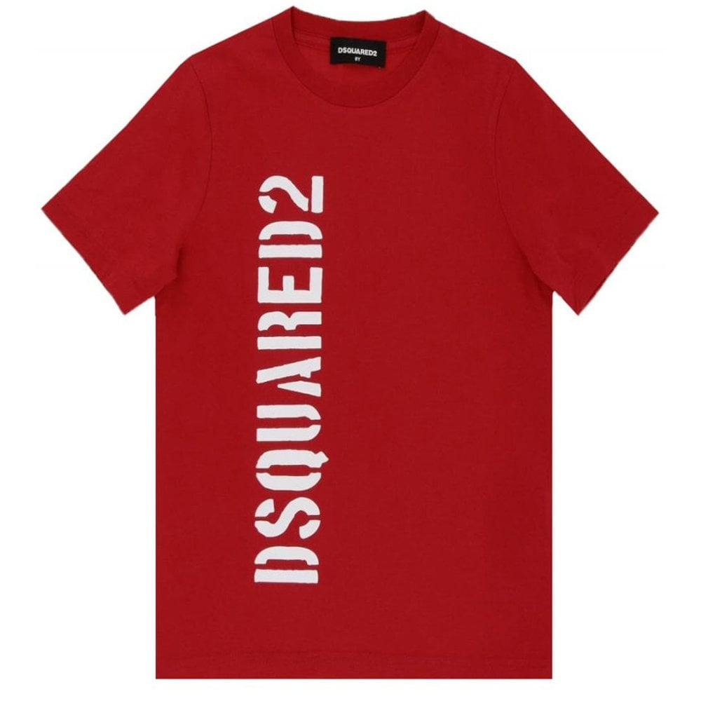 Dsquared2 Side Logo T-shirt Colour: RED, Size: 12 YEARS