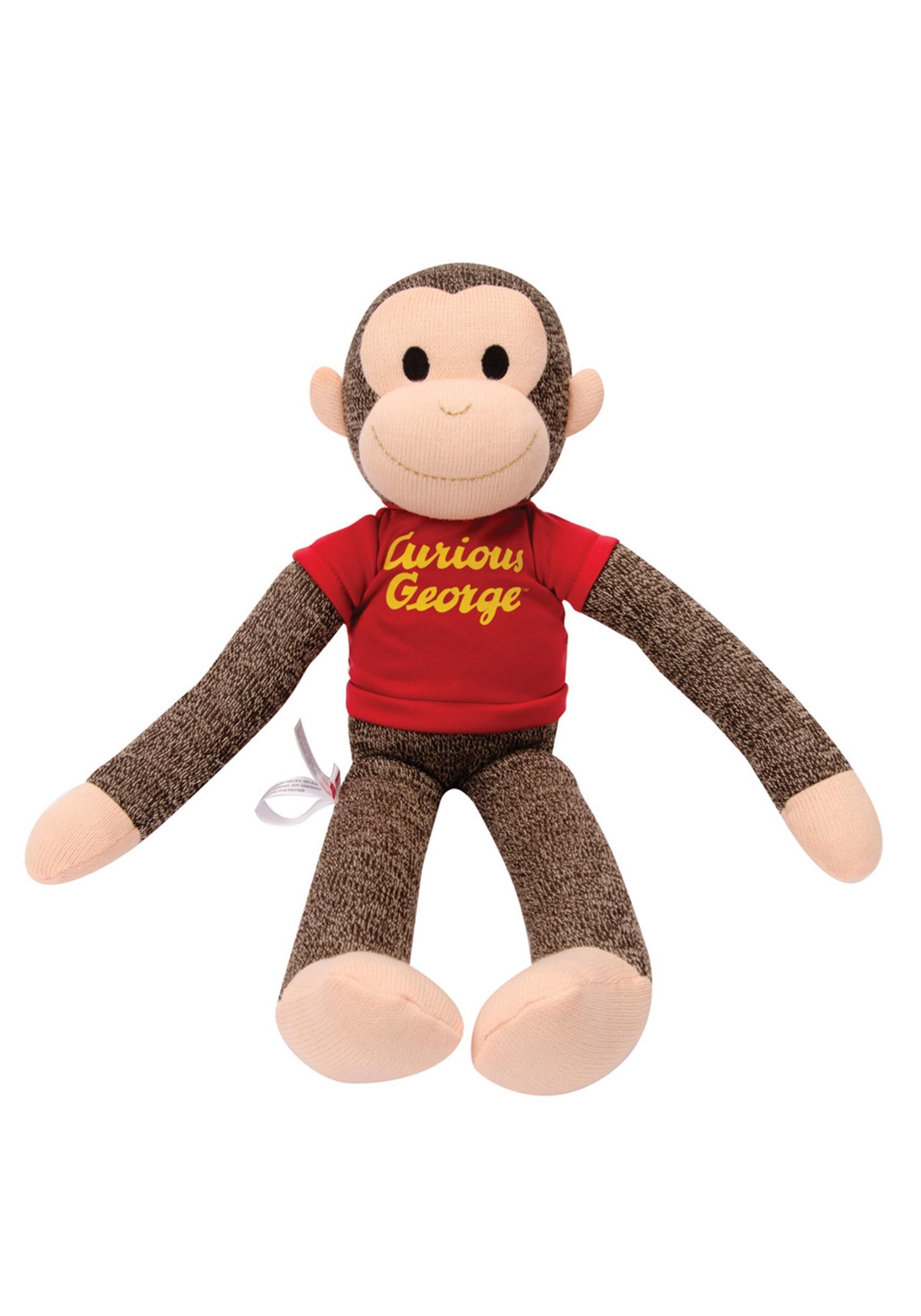 Stuffed Sock Monkey Curious George Figure