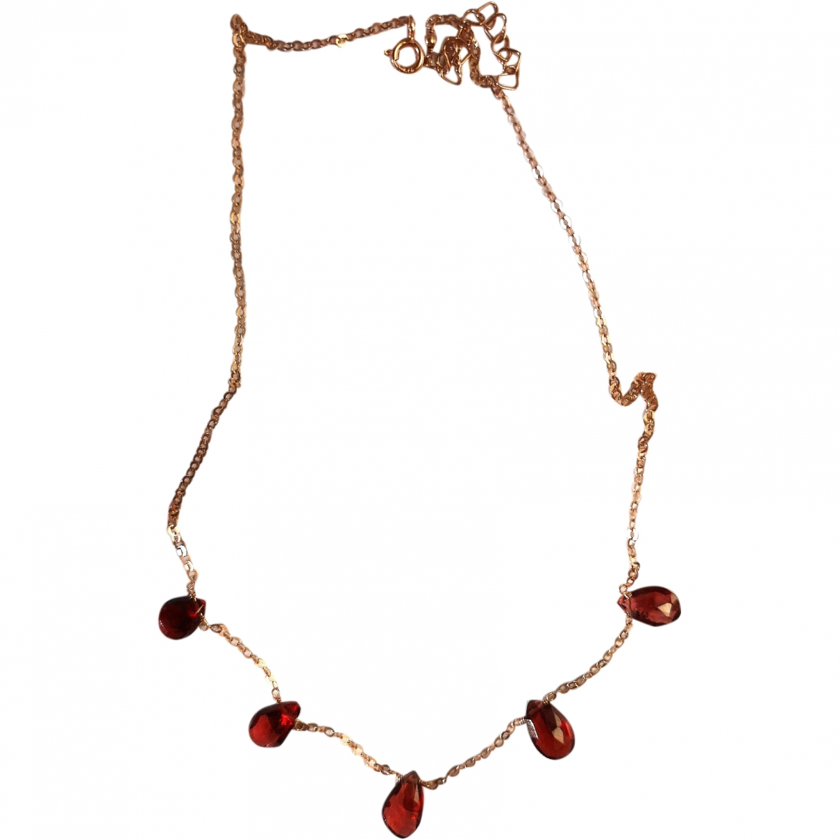 Non Signé / Unsigned \N Red Silver necklace for Women \N
