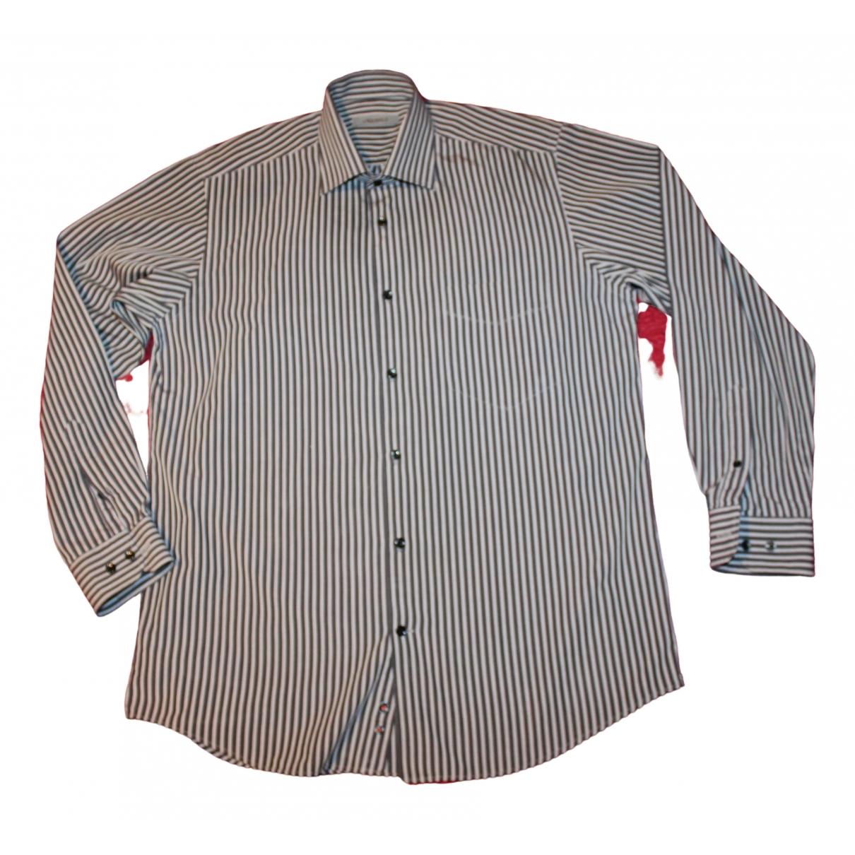 Karl Lagerfeld - Chemises   pour homme en coton - gris