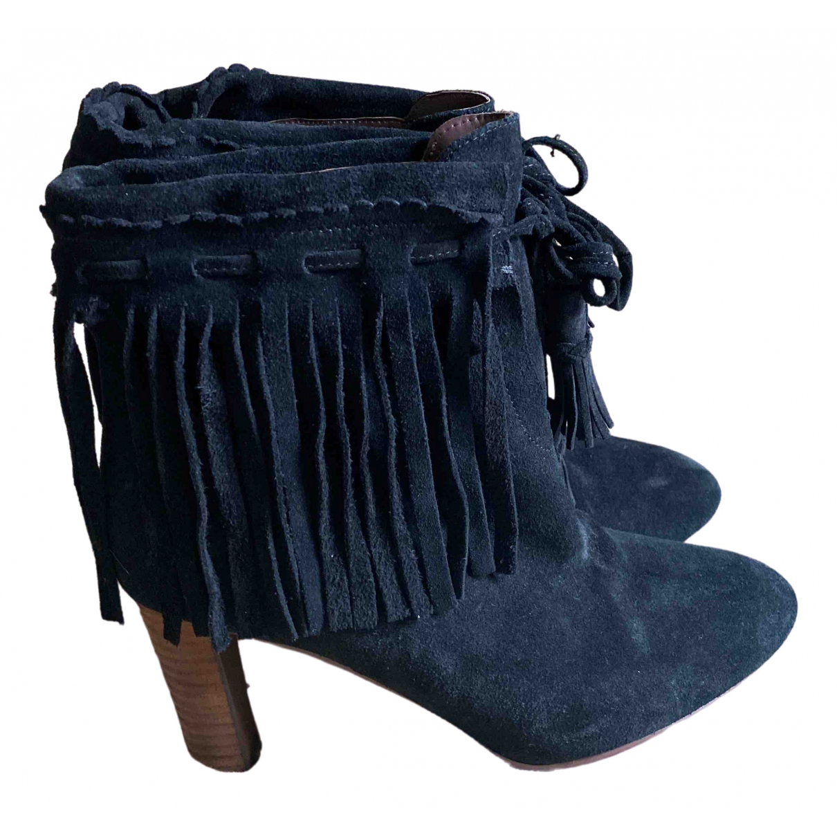 See By Chloé \N Black Suede Ankle boots for Women 39 EU