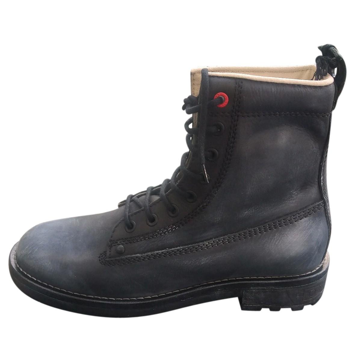 Diesel - Boots   pour femme en cuir - gris