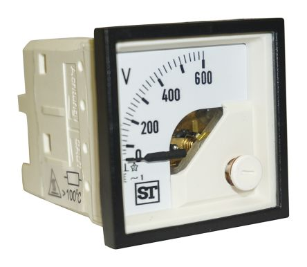 Sifam Tinsley AC Analogue Voltmeter, 600V, 45 x 45 mm,
