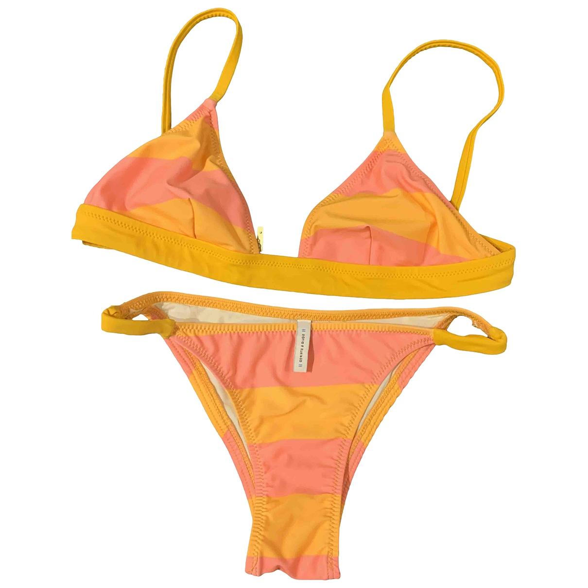 Solid & Striped \N Badeanzug in  Orange Lycra