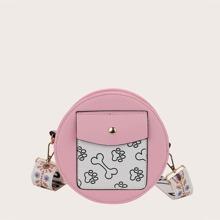 Girls Cartoon Graphic Circle Bag