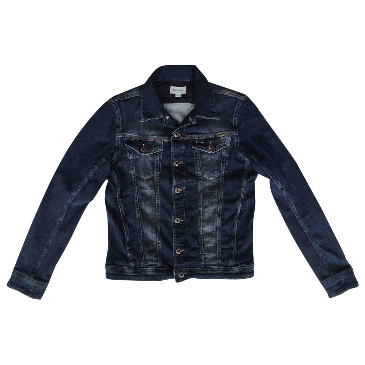 Diesel \N Jacke, Maentel in  Blau Denim - Jeans