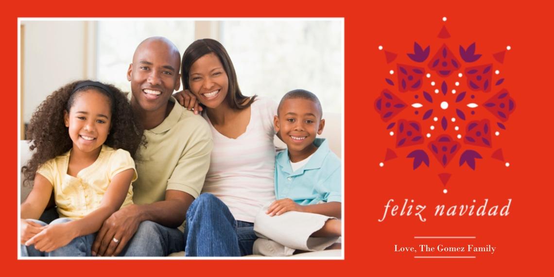 Tarjetas de Navidad Flat Glossy Photo Paper Cards with Envelopes, 4x8, Card & Stationery -Feliz Navidad Pattern