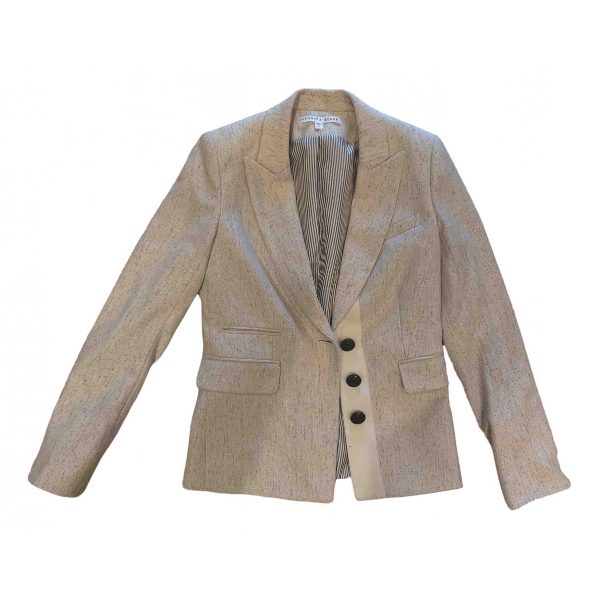 Veronica Beard - Veste   pour femme en laine - ecru