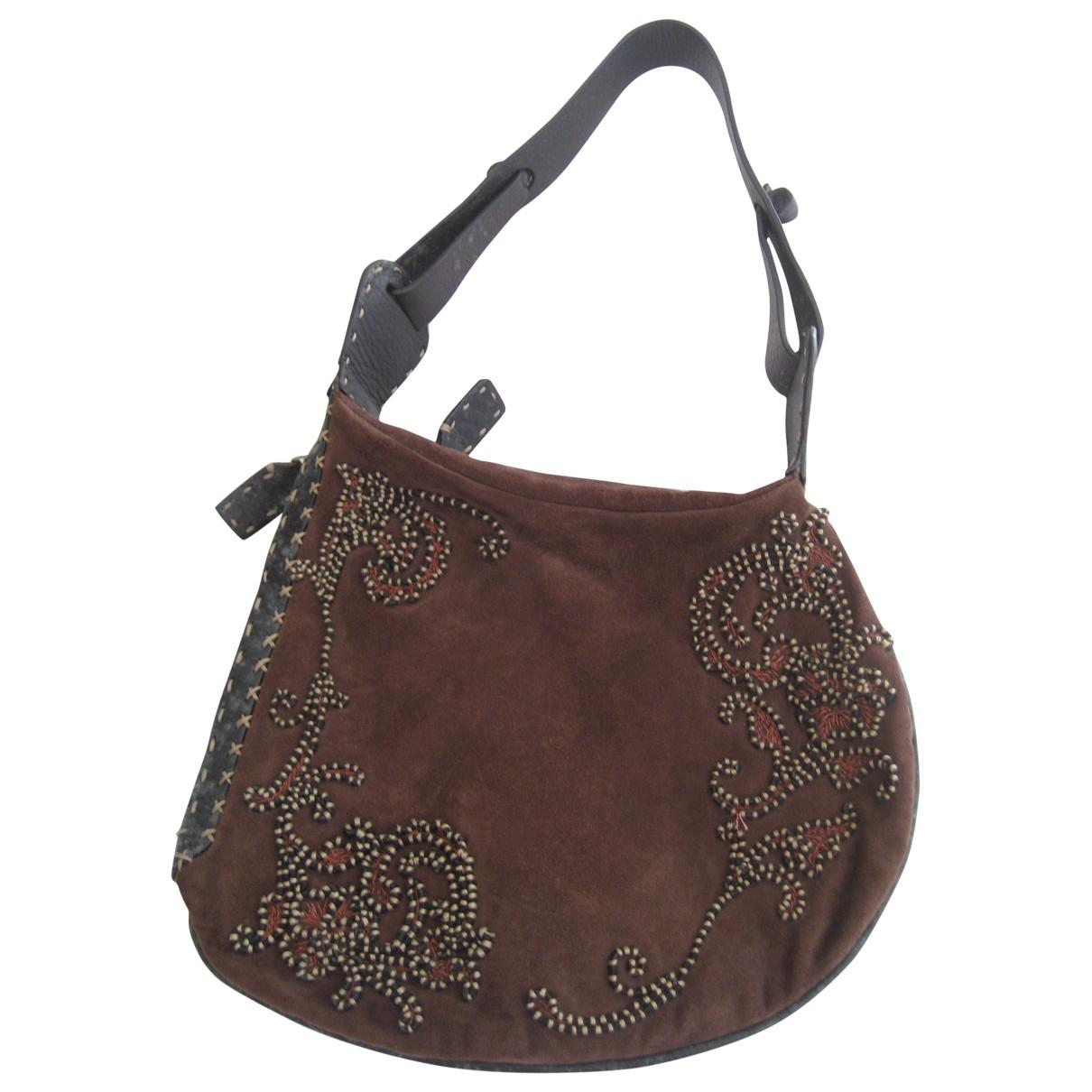 Fendi \N Handtasche in  Braun Veloursleder