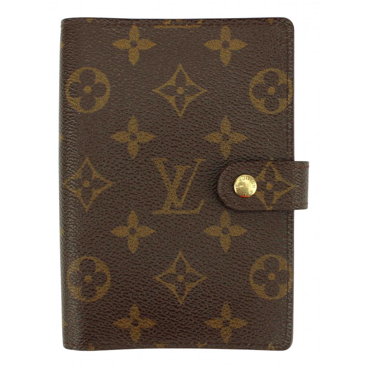 Louis Vuitton - Objets & Deco Couverture d'agenda PM pour lifestyle en toile - marron