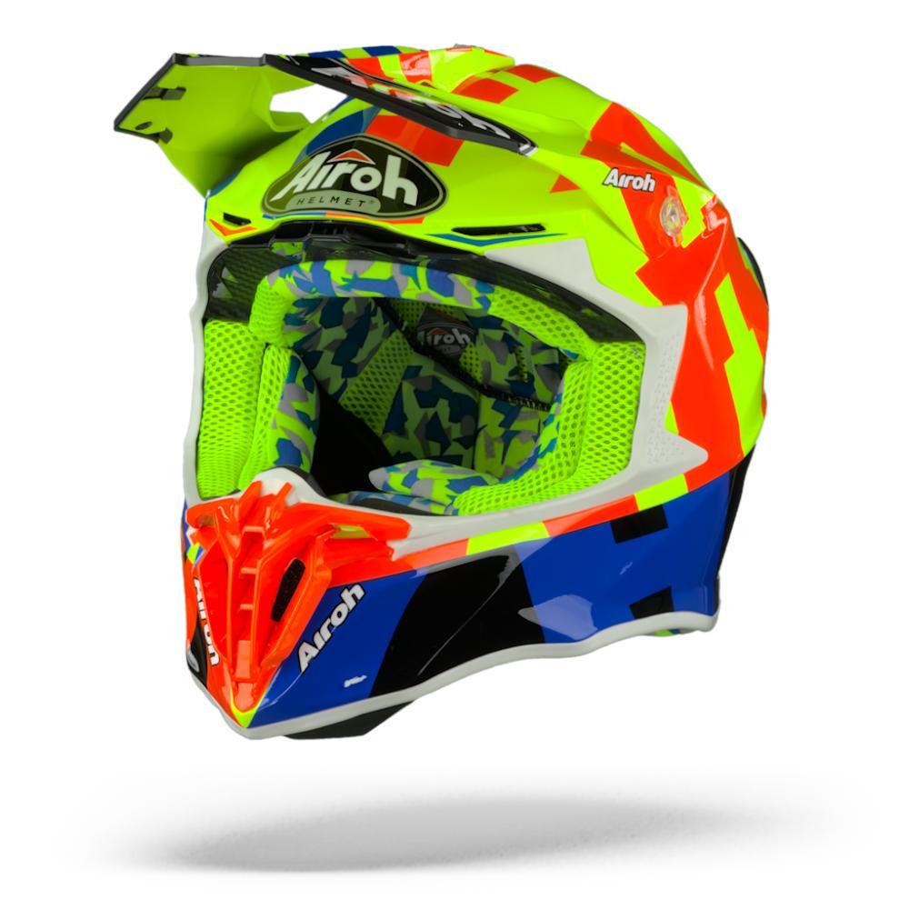 Airoh Twist 2.0 Frame Casco Motocross Amarillo Naranja  XL