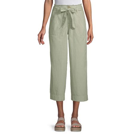 a.n.a High Rise Cropped Pants, 8 , Green