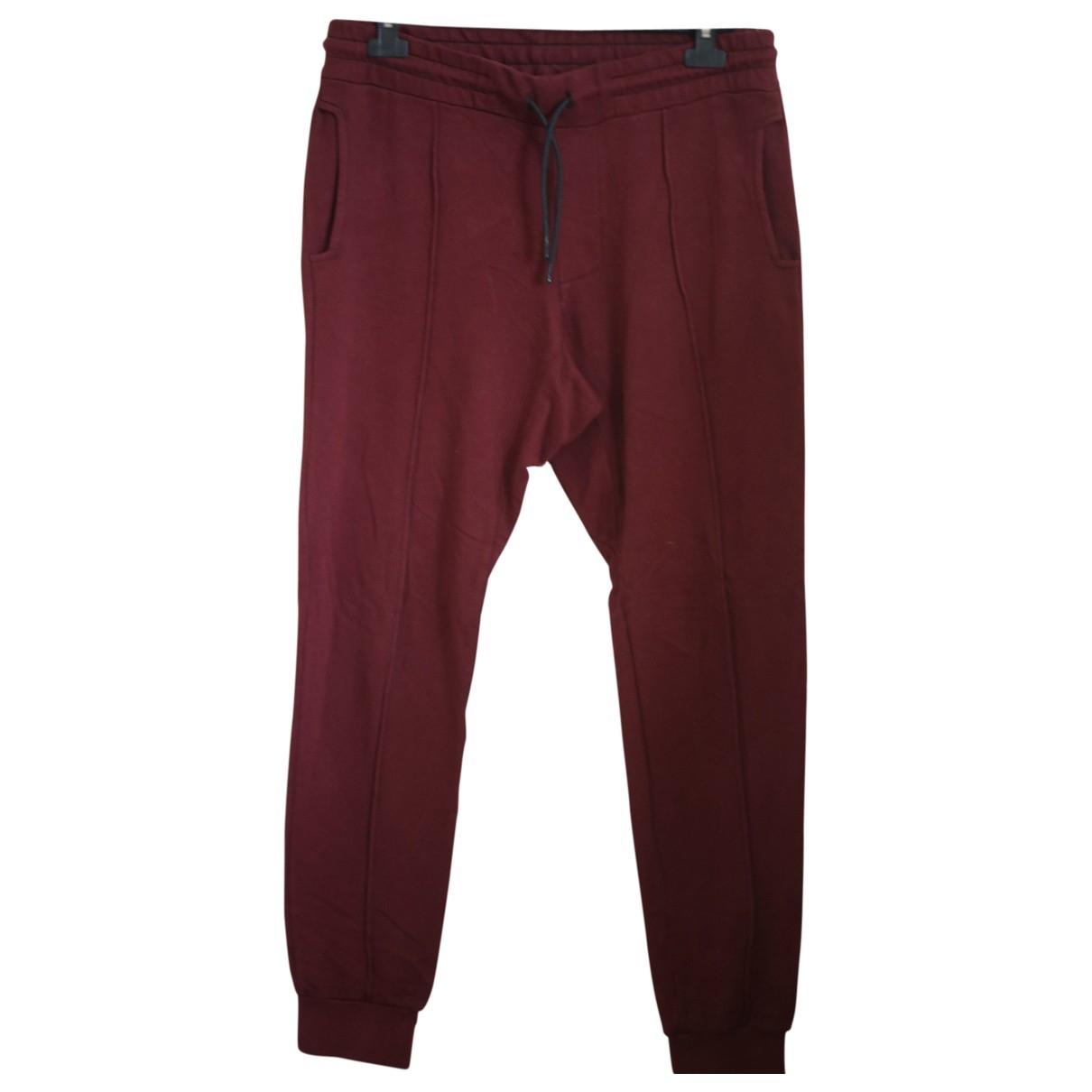 Cotton Citizen - Pantalon   pour homme en coton - bordeaux