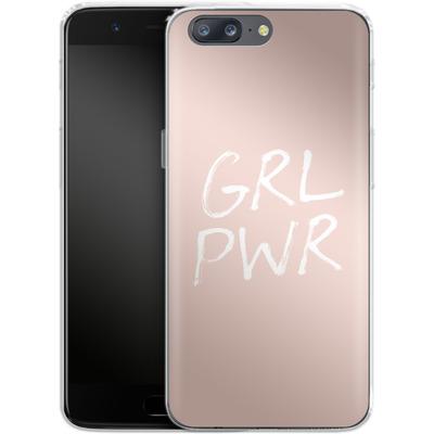 OnePlus 5 Silikon Handyhuelle - GRLPWR Rose von caseable Designs