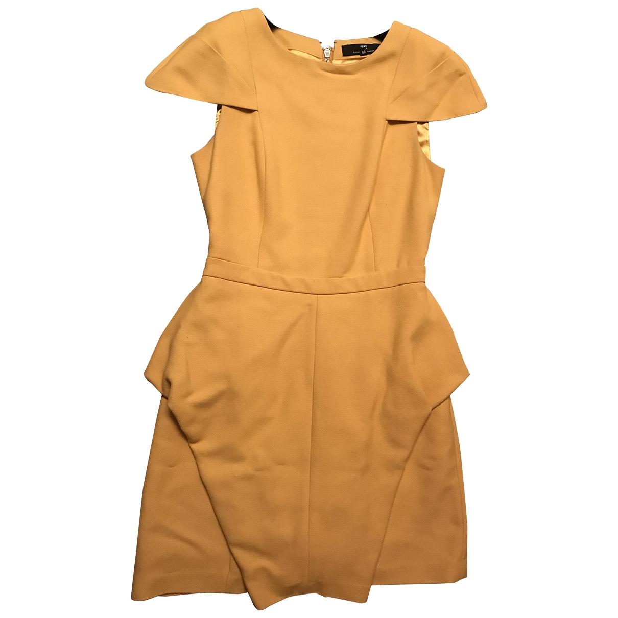 Elisabetta Franchi \N Kleid in  Gelb Baumwolle
