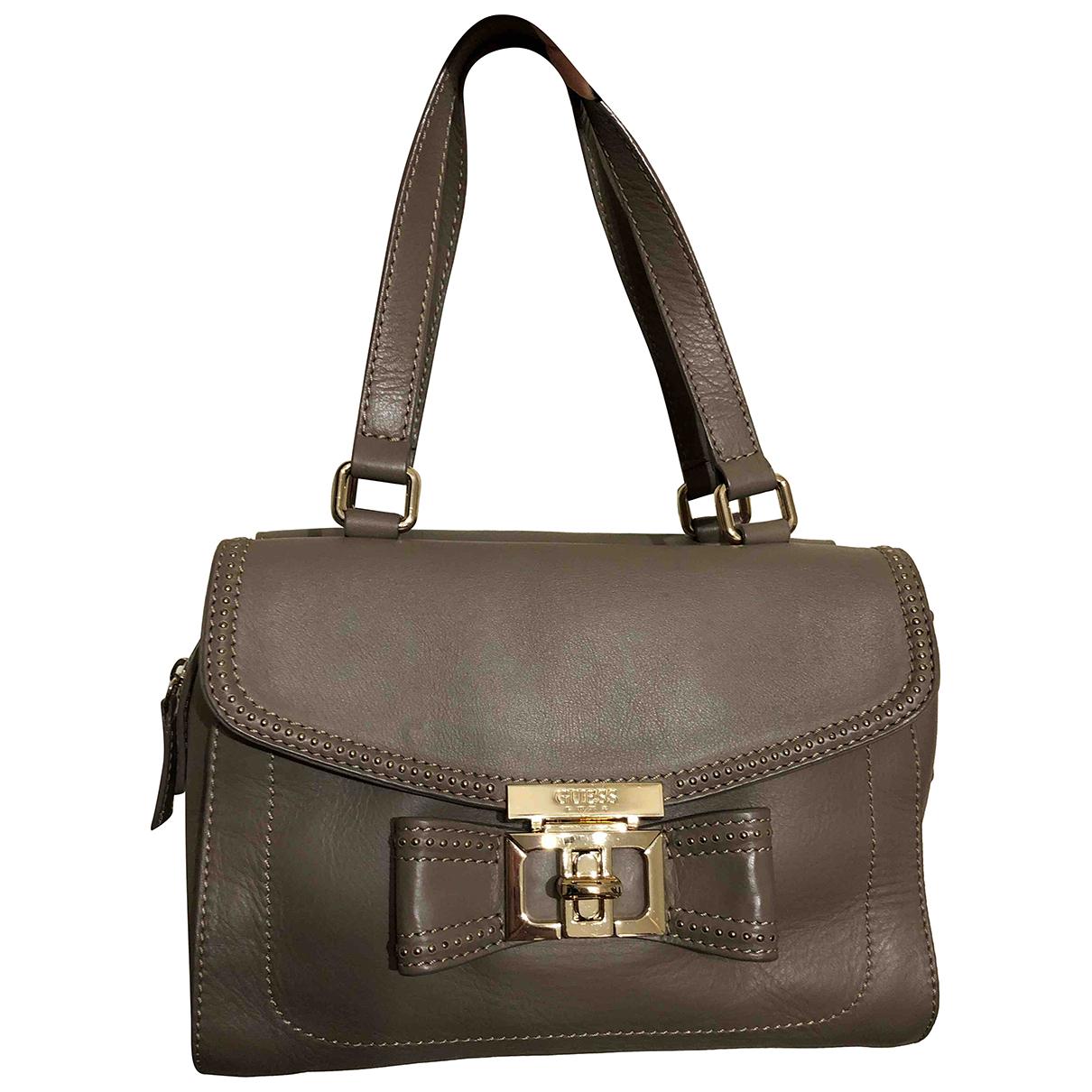 Guess N Grey Leather handbag for Women N