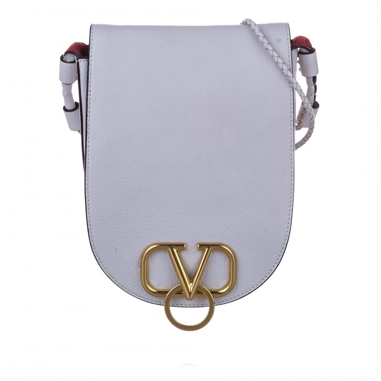 Valentino Garavani - Sac a main   pour femme en cuir - blanc