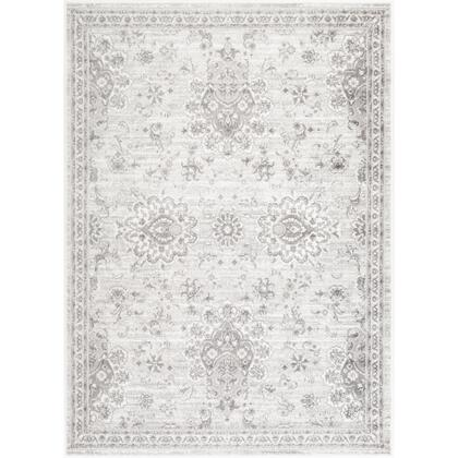 Monte Carlo MNC-2331 67 x 9 Rectangle Traditional Rug in Light Gray  White