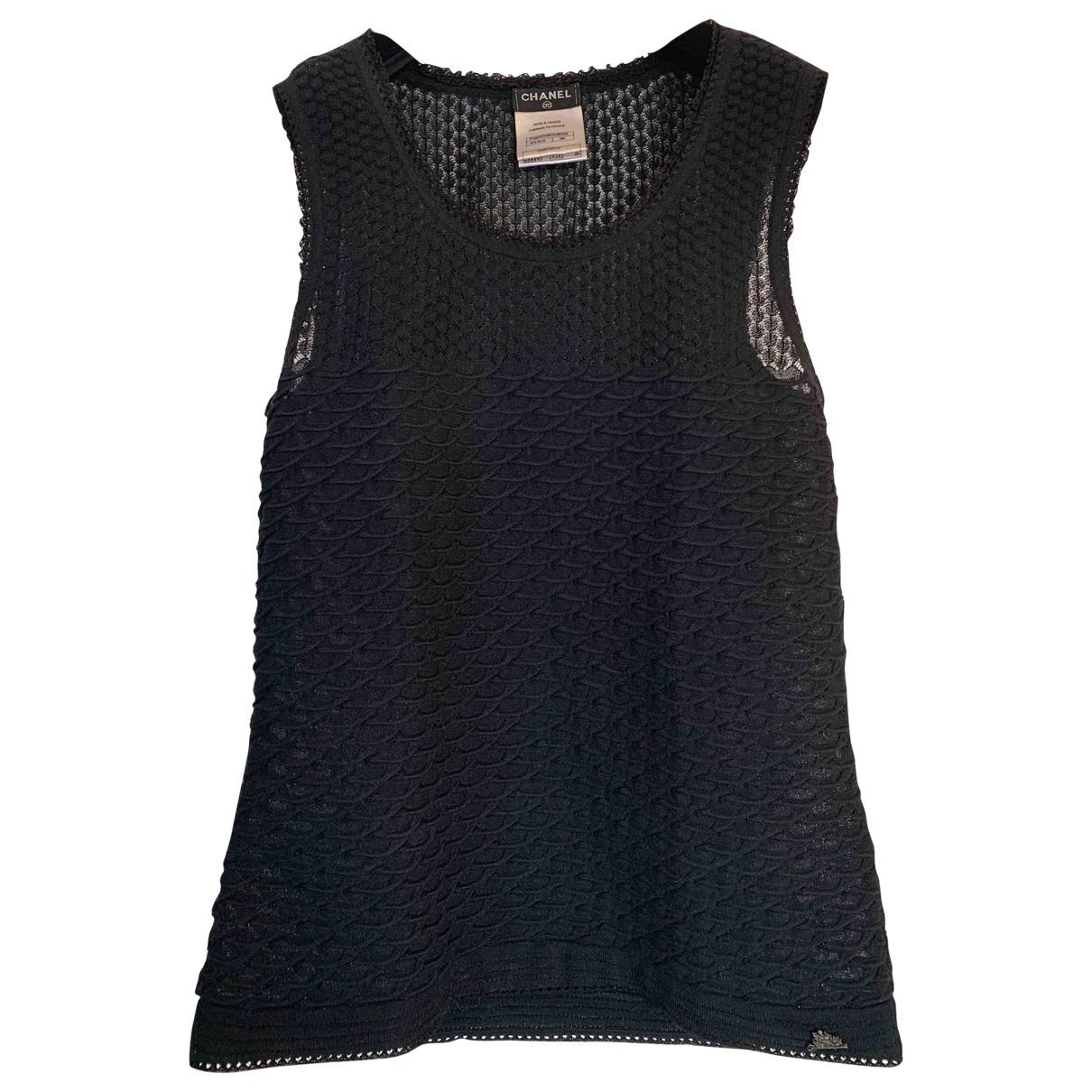 Chanel - Pull   pour femme en coton - bleu