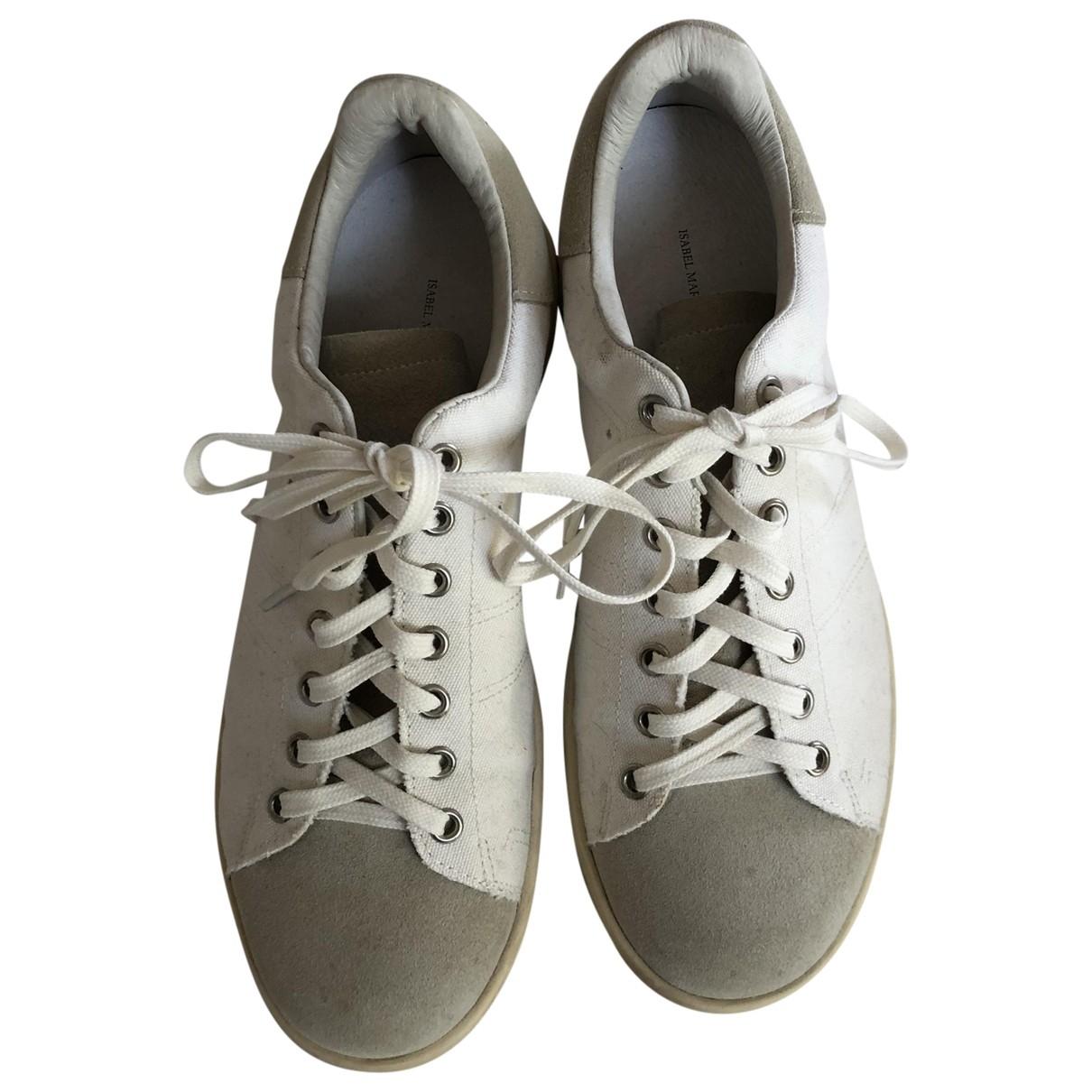 Isabel Marant Bart Sneakers in  Ecru Leinen
