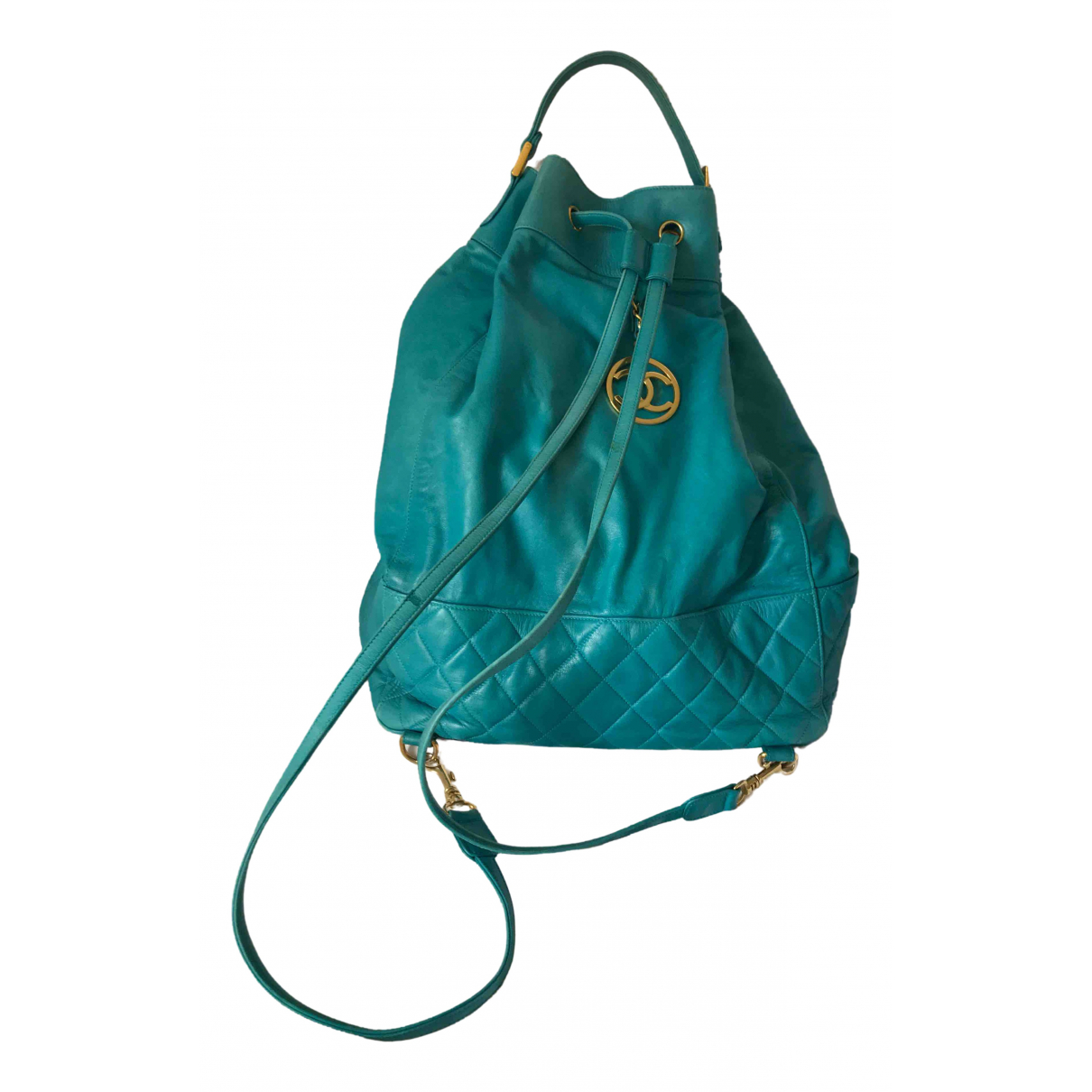 Chanel \N Green Leather backpack for Women \N