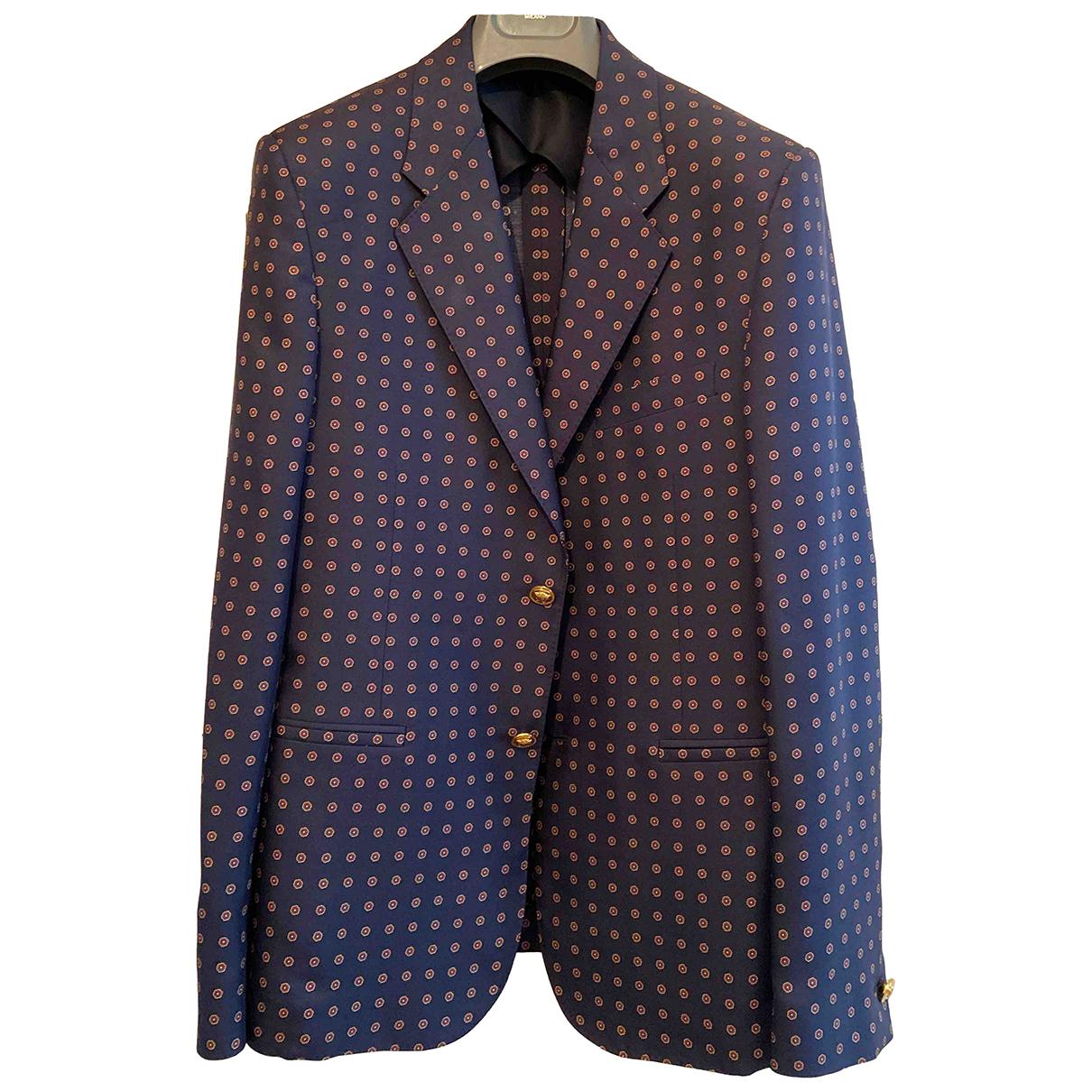 Versace - Vestes.Blousons   pour homme en soie - bleu