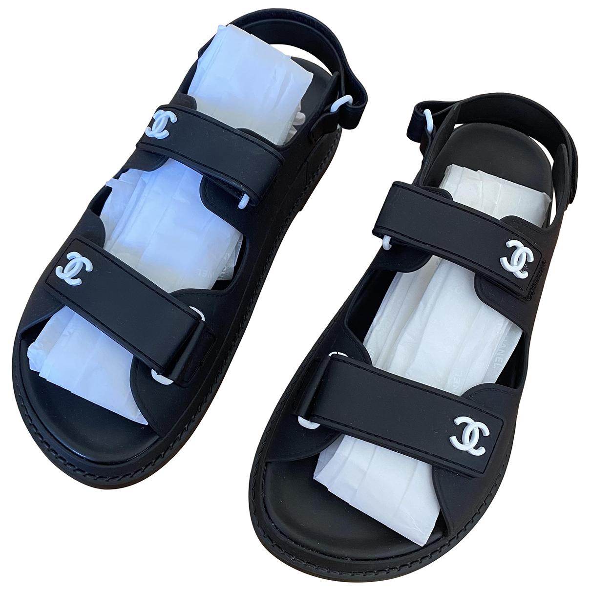 Chanel - Sandales Dad Sandals pour femme en caoutchouc - noir
