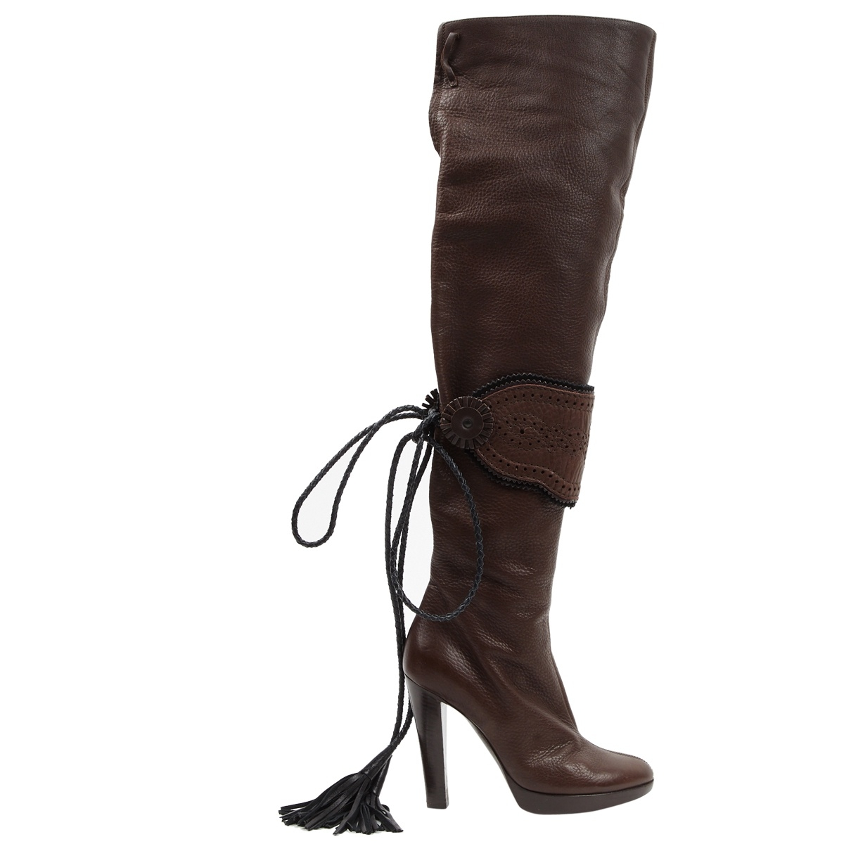 Gianfranco Ferré \N Brown Leather Boots for Women 36 EU