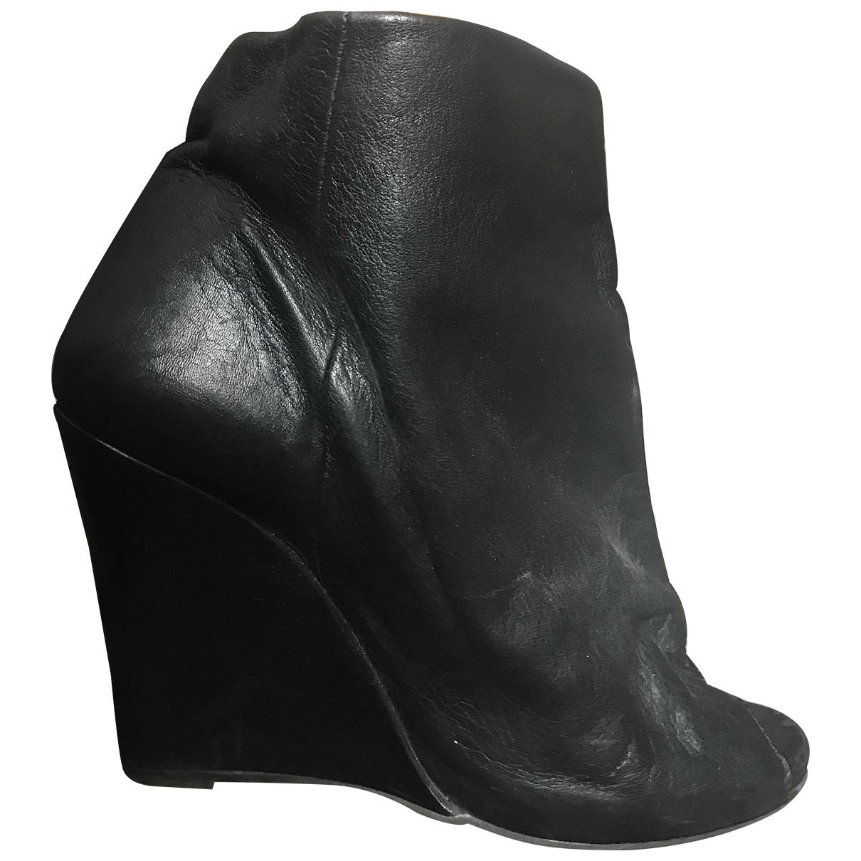 Bel Air - Escarpins   pour femme en cuir - noir