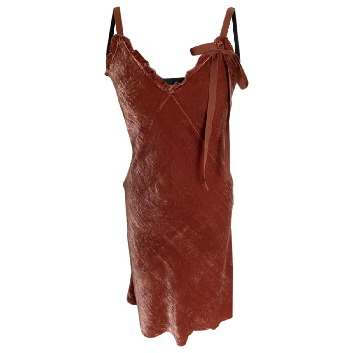 Vestido midi de Terciopelo Miu Miu
