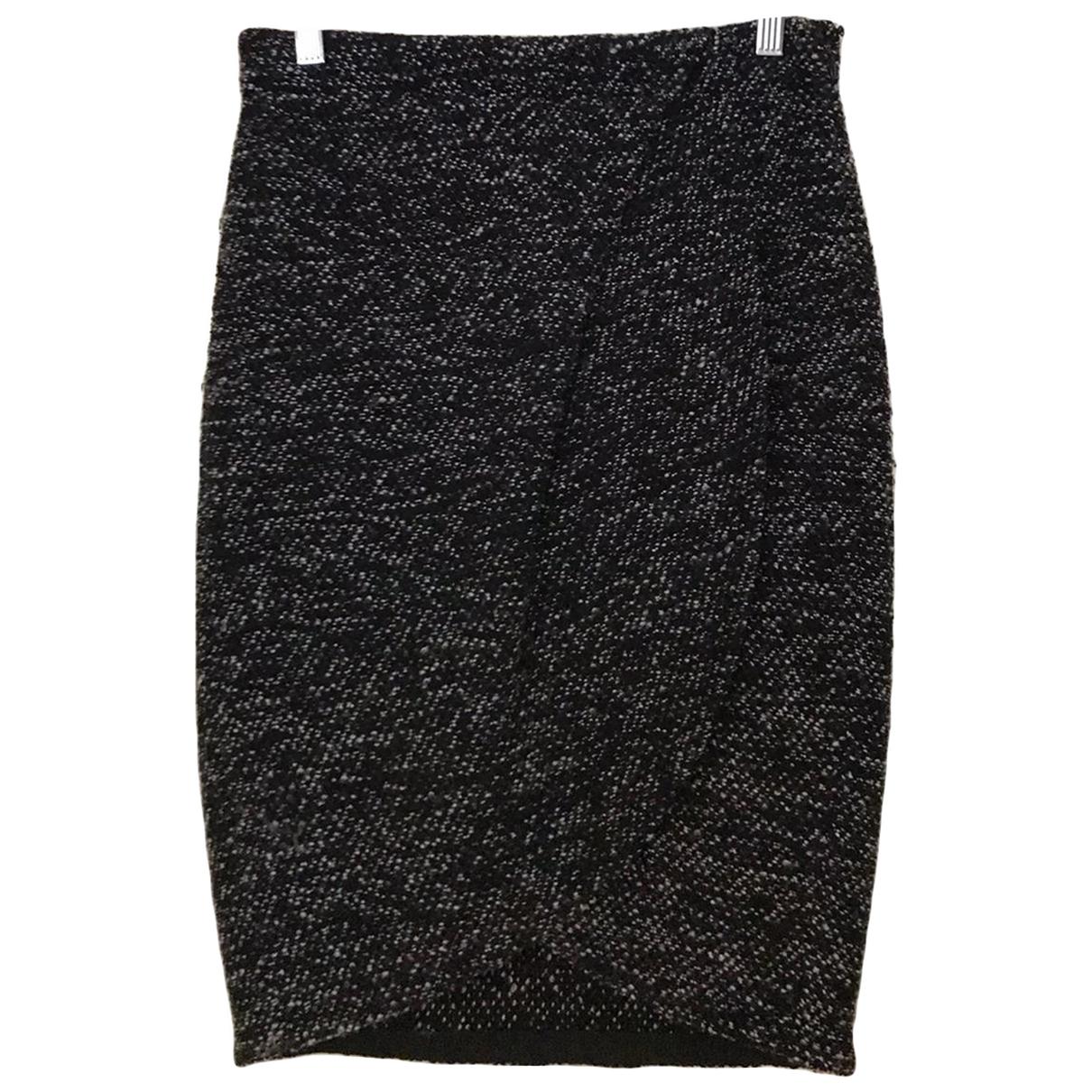 Emporio Armani - Jupe   pour femme en tweed - noir