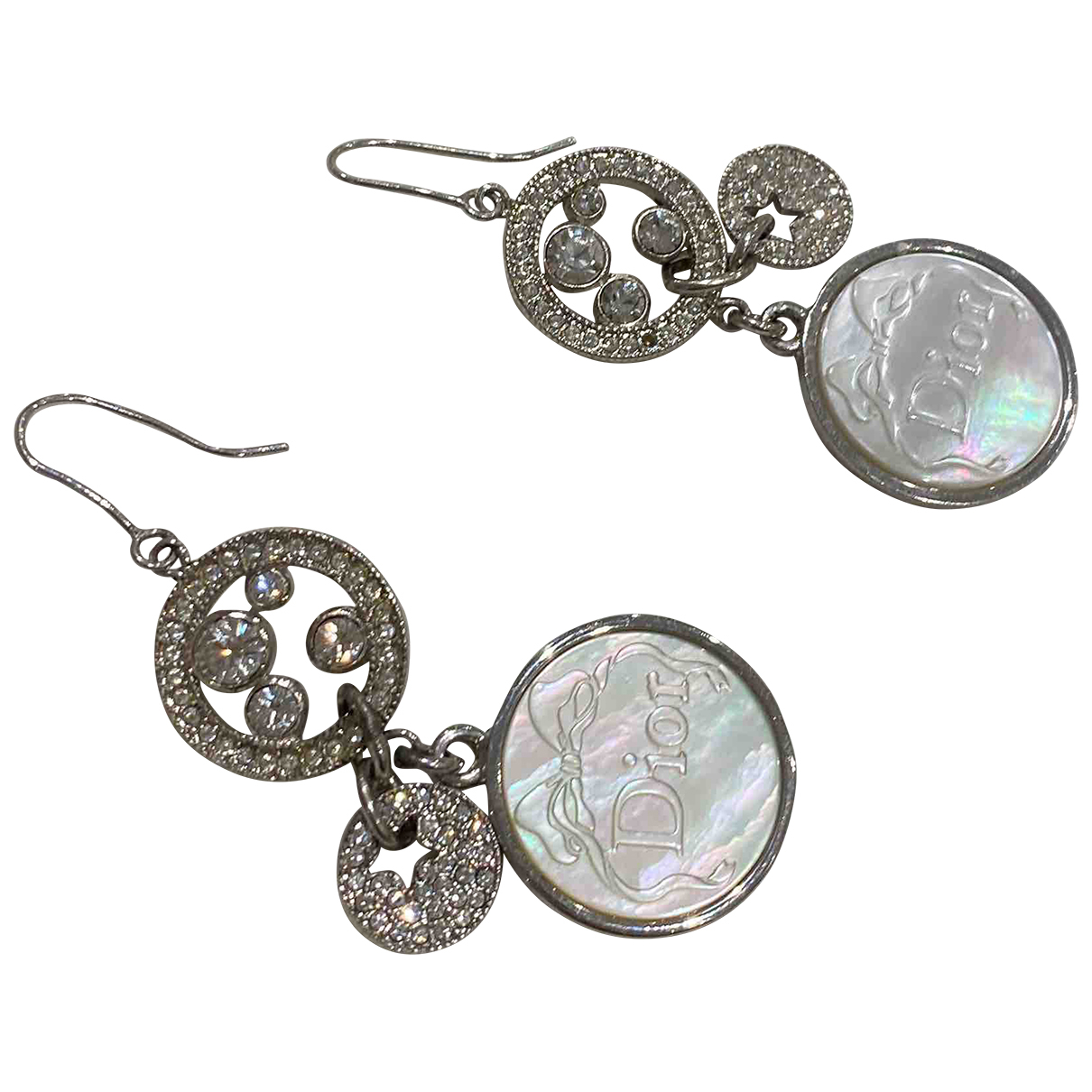 Dior N Metallic Metal Earrings for Women N