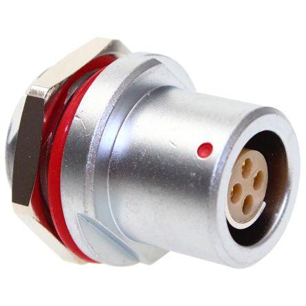 CAMDENBOSS Circular Connector, 4 contacts Panel Mount Socket, Solder IP68