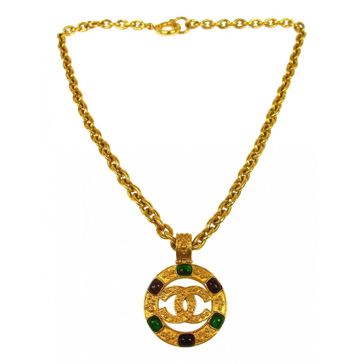 Chanel - Collier CC pour femme en metal