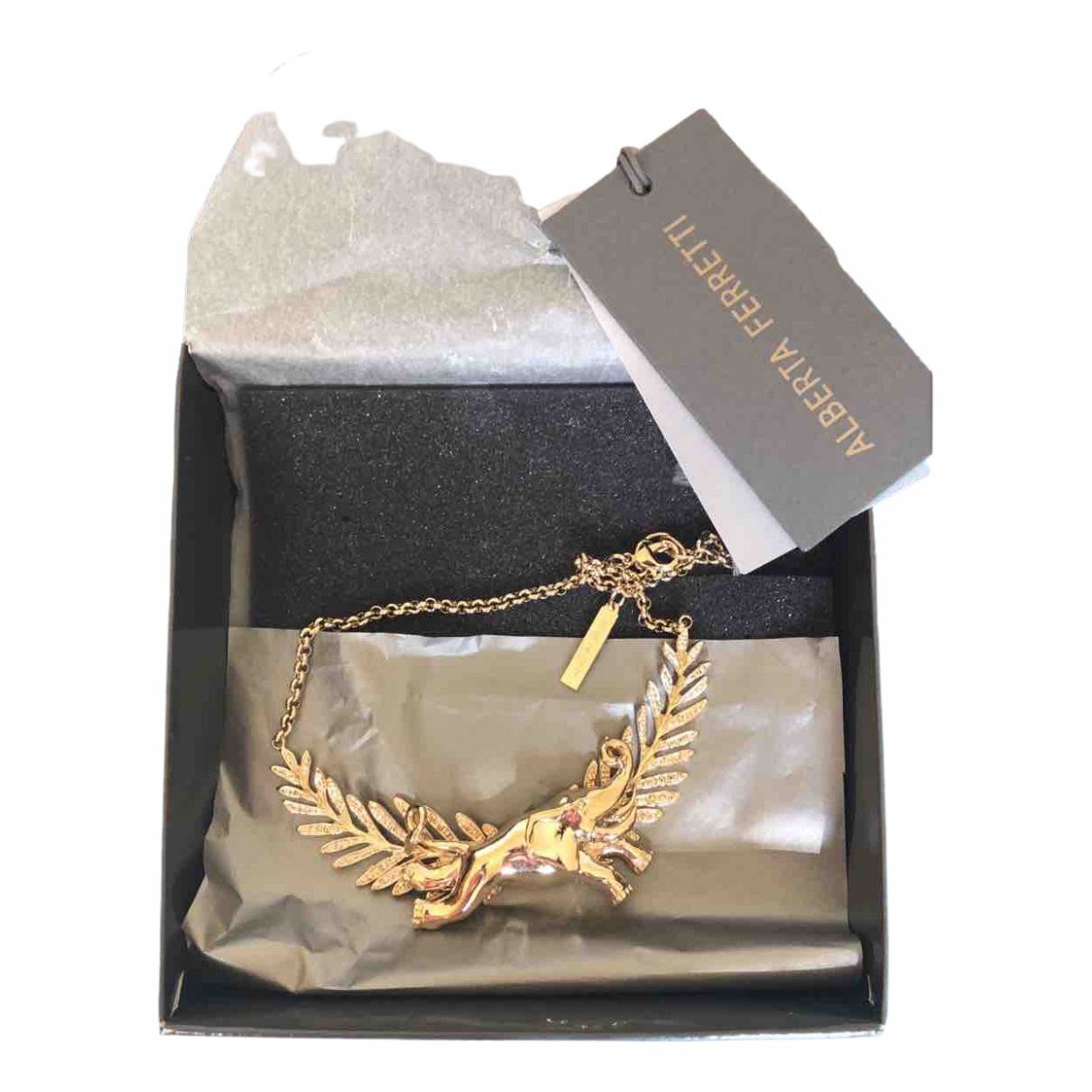 Alberta Ferretti \N Gold Metal necklace for Women \N