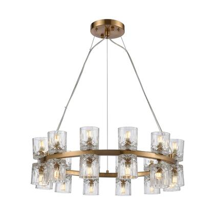 D4180 Double Vision 24-Light Pendant  In Clear And Satin