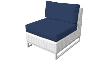 Miami TKC047b-AS-NAVY Armless Chair - Sail White and Navy