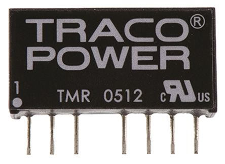 TRACOPOWER TMR 2 2W Isolated DC-DC Converter Through Hole, Voltage in 4.5 → 9 V dc, Voltage out 12V dc