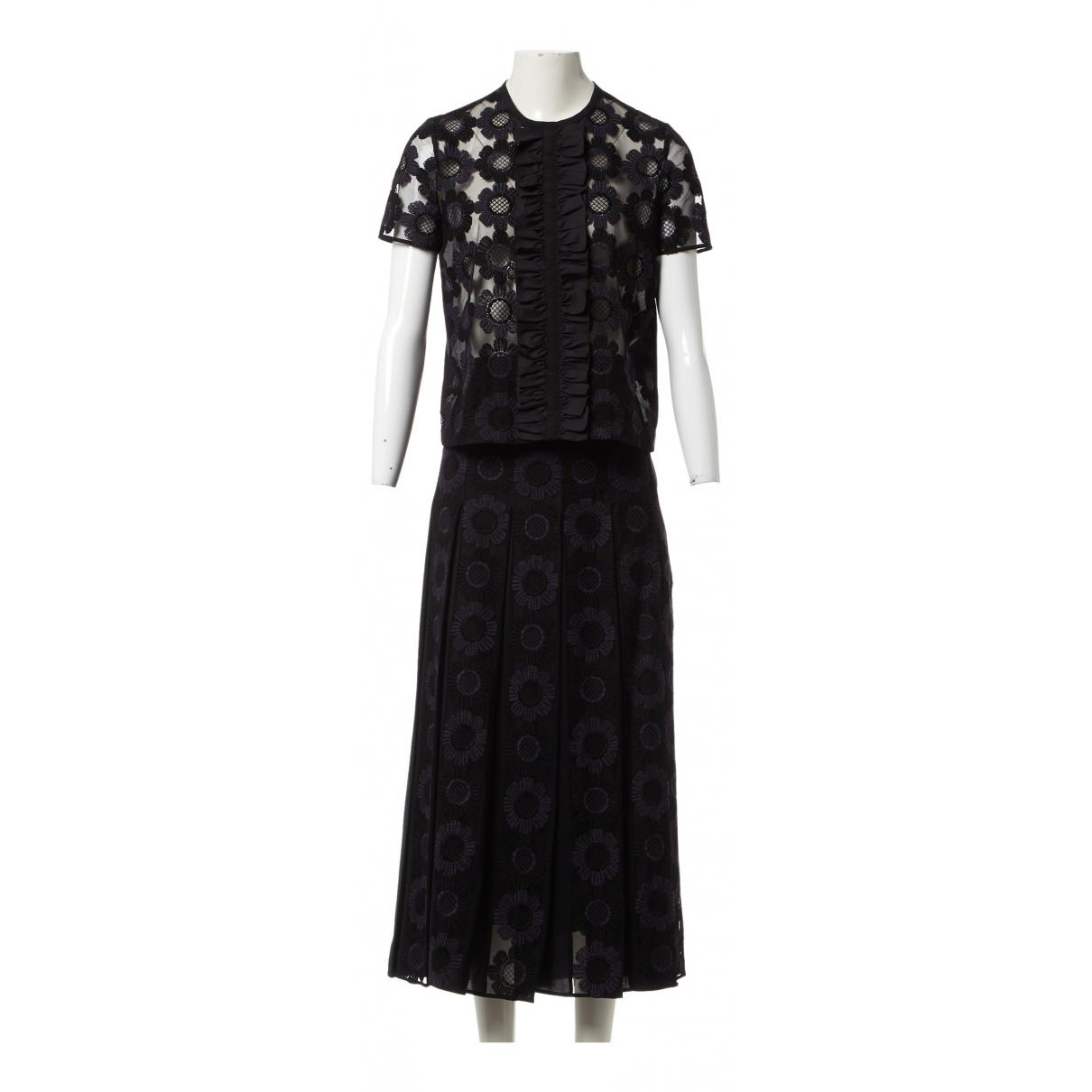 Fendi \N Kleid in  Schwarz Polyester