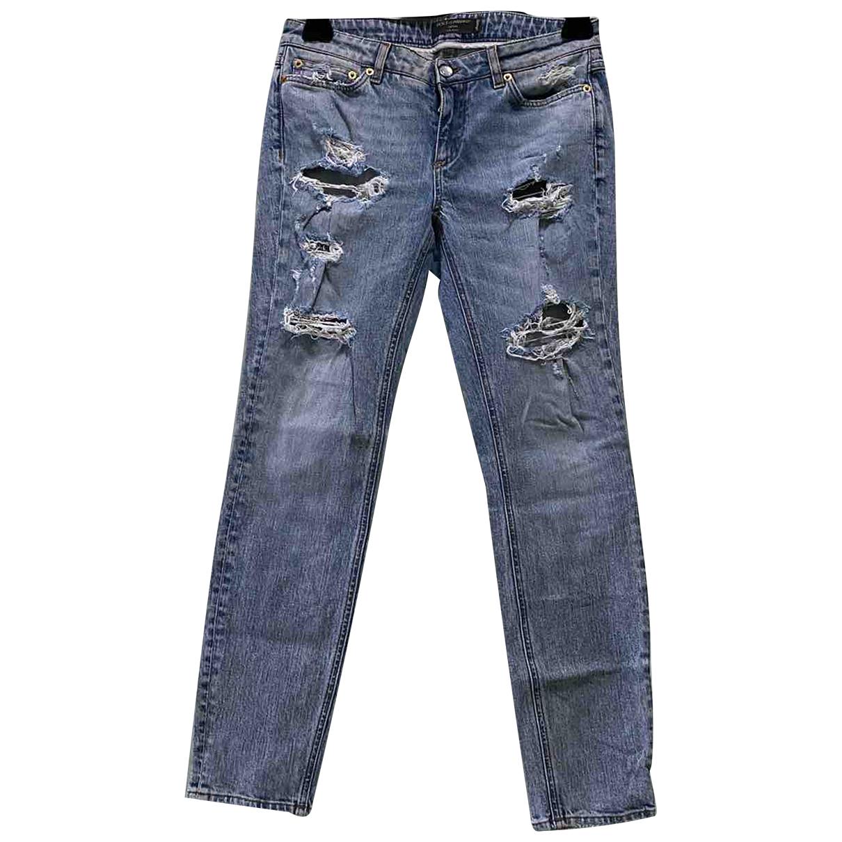 Dolce & Gabbana N Blue Denim - Jeans Jeans for Women 38 FR