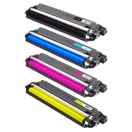 Compatible Brother TN227 cartouche de toner combo BK/C/M/Y haute capacite de TN223 - avec chip