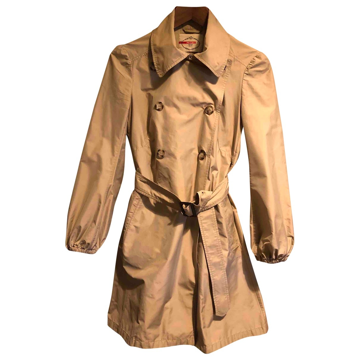 Prada \N Trench in  Beige Polyester