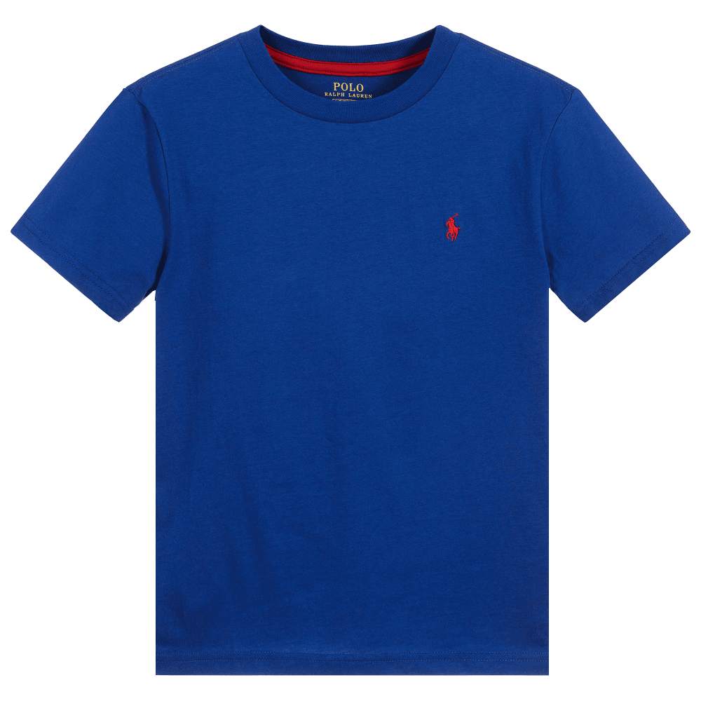 Ralph Lauren Kids Logo T-Shirt Blue Colour: BLUE, Size: 6 YEARS