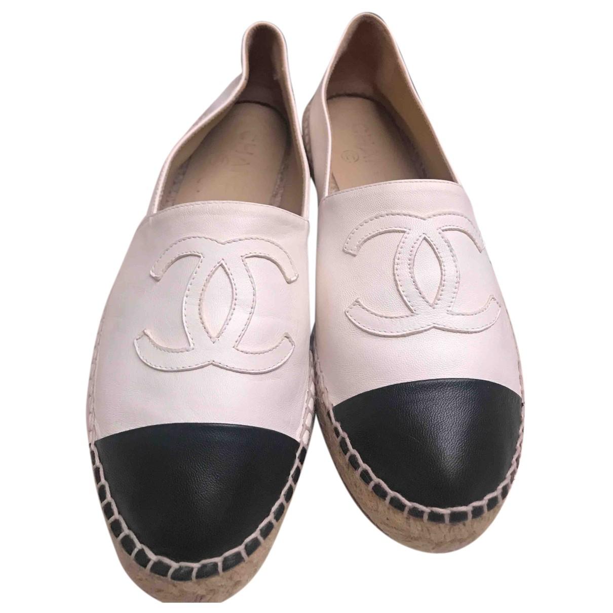 Chanel - Espadrilles   pour femme en cuir - beige
