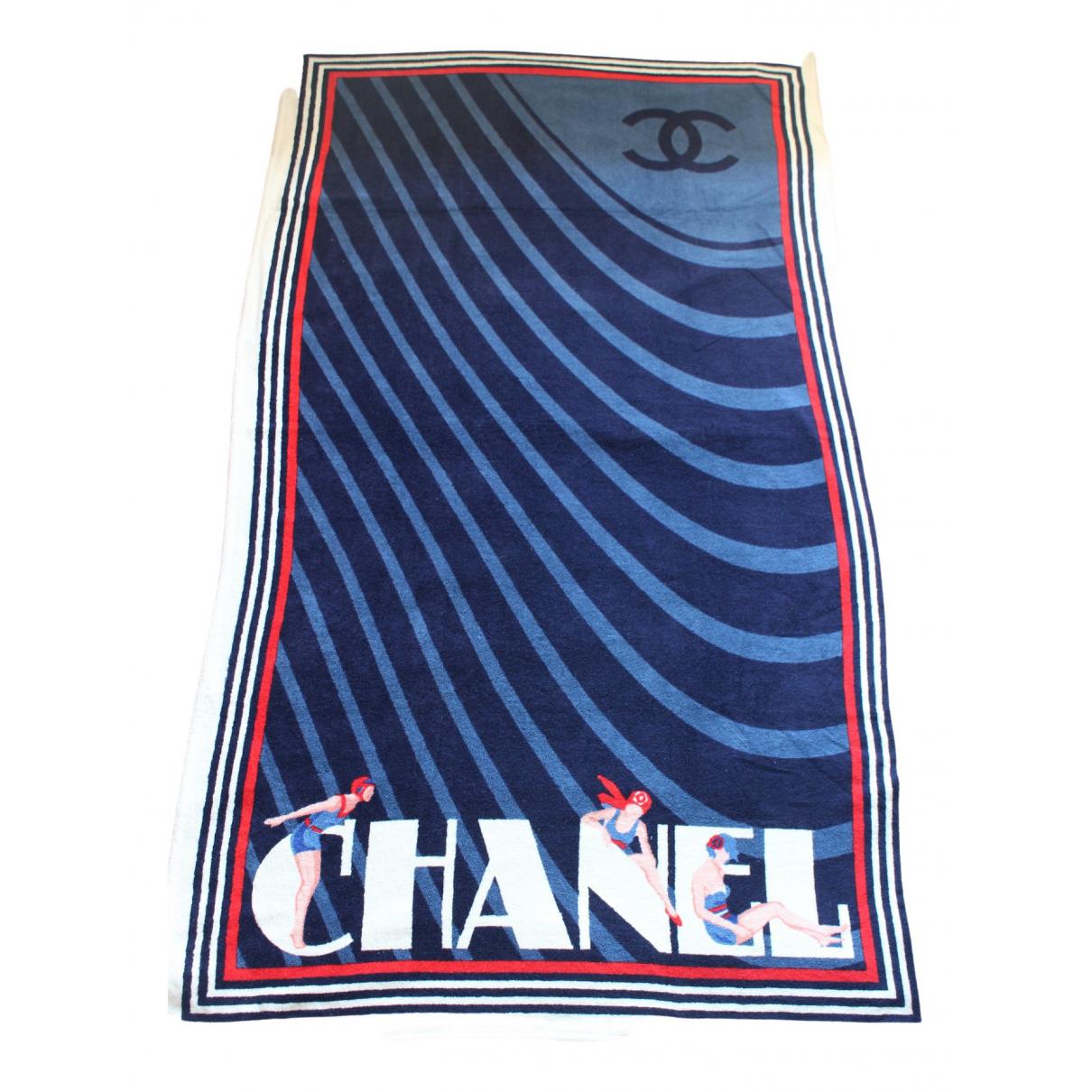 Chanel - Linge de maison   pour lifestyle en coton - bleu