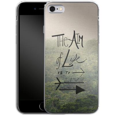 Apple iPhone 6 Silikon Handyhuelle - Aim of Life von Leah Flores