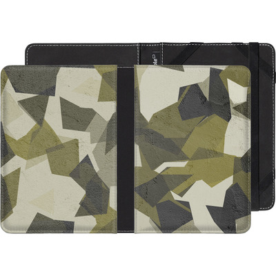 PocketBook Touch 622 eBook Reader Huelle - Geometric Camo Green von caseable Designs