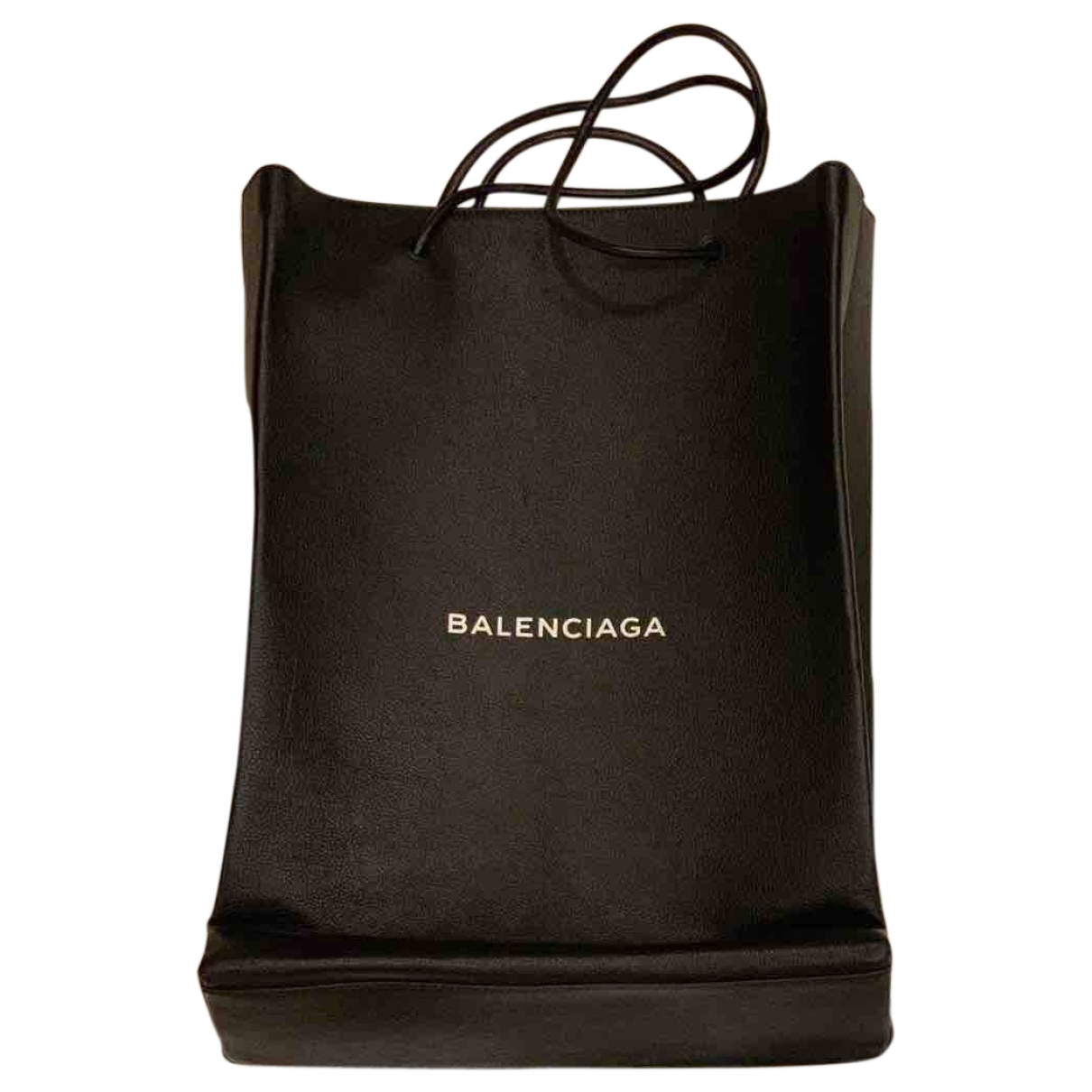Balenciaga Shopping North South Black Leather handbag for Women \N