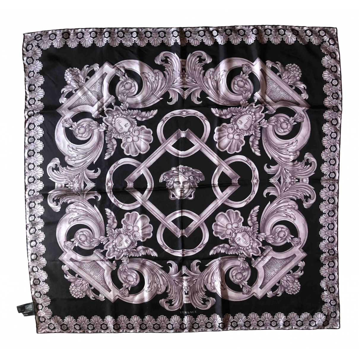 Versace \N Grey Silk scarf for Women \N