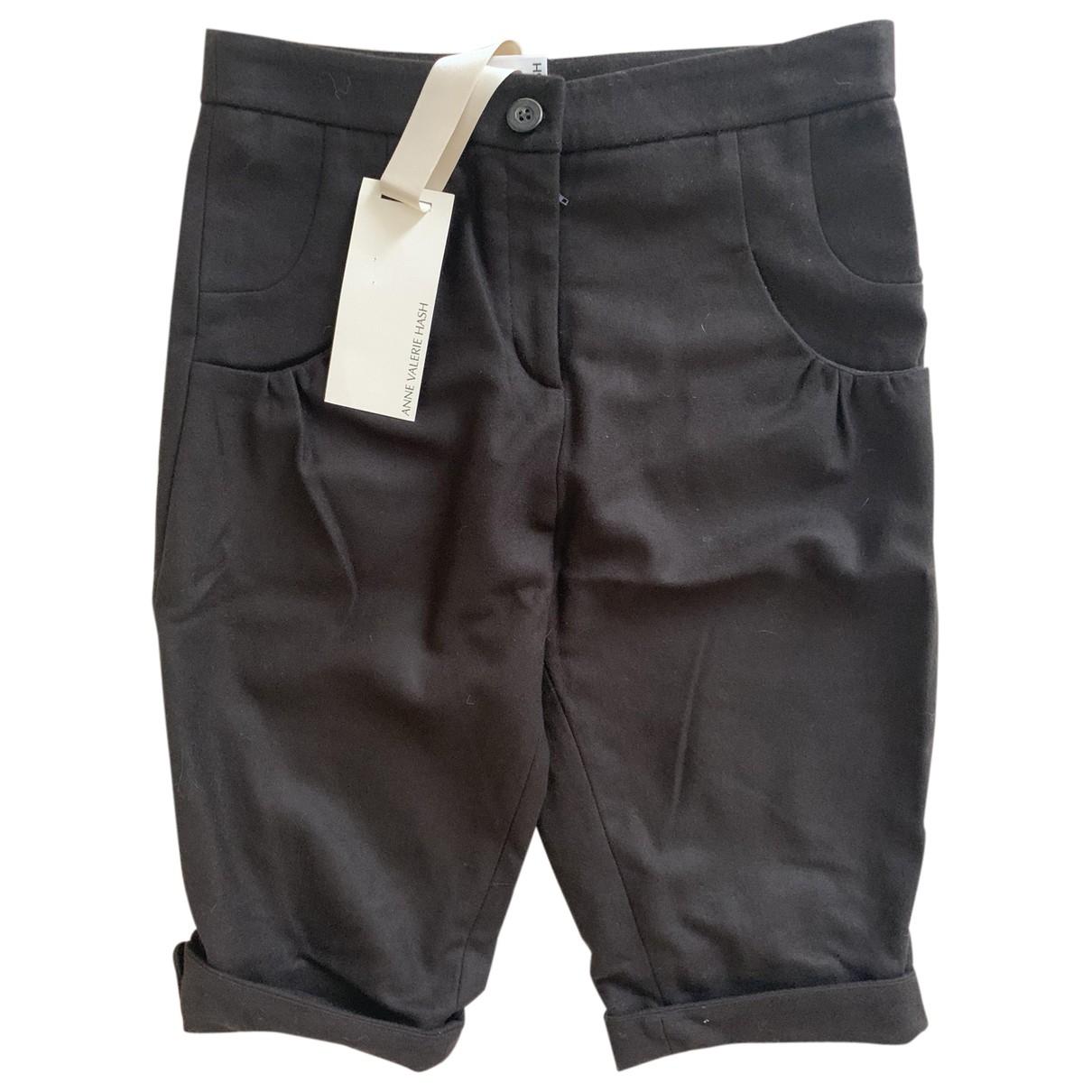 Anne Valerie Hash \N Brown Wool Shorts for Kids 14 years - S FR